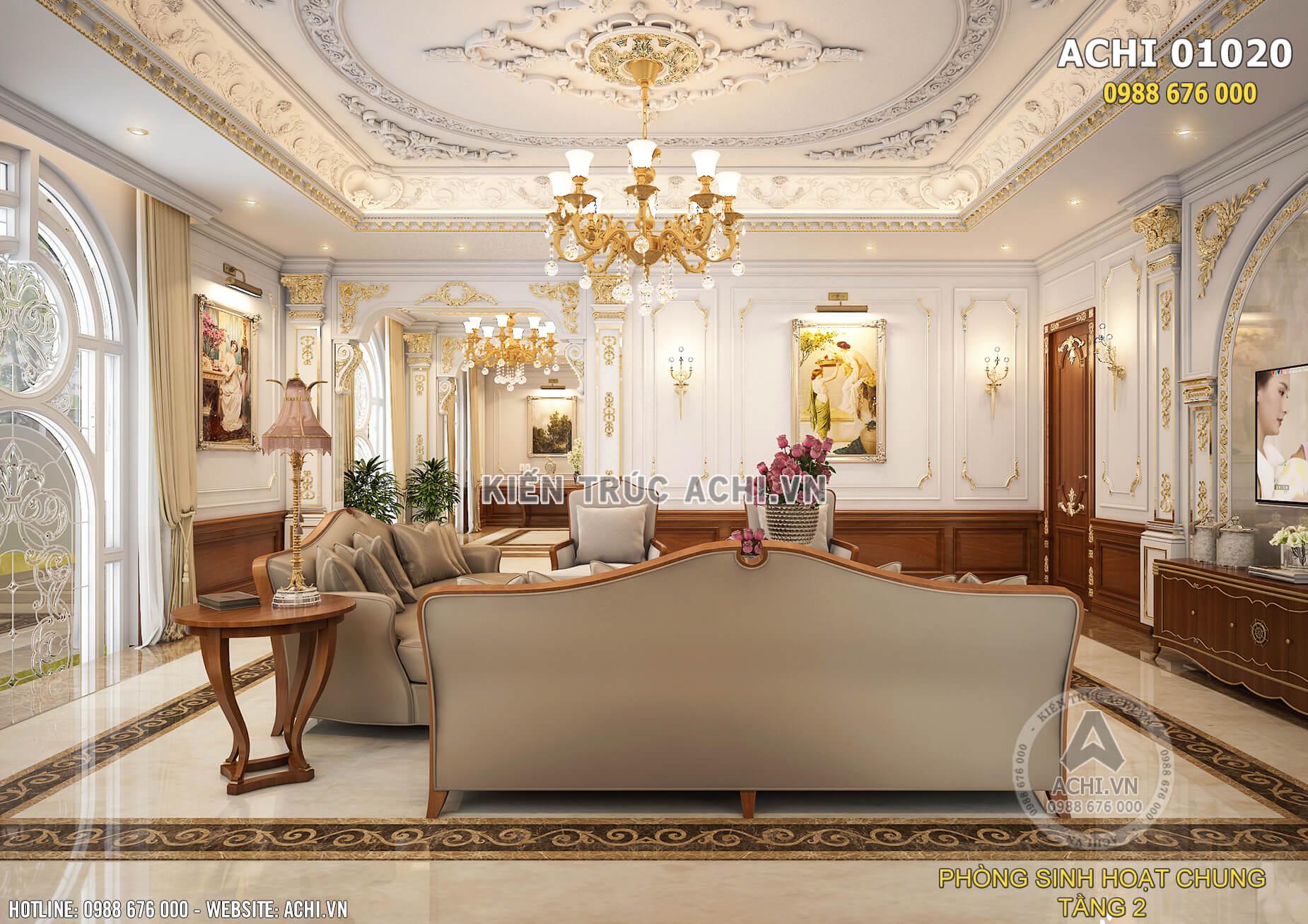 Một góc view của mẫu thiết kế nội thất phòng sinh hoạt chung