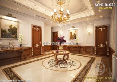 Mẫu thiết kế nội thất đẹp tân cổ điển sang trọng – ACHI 01020