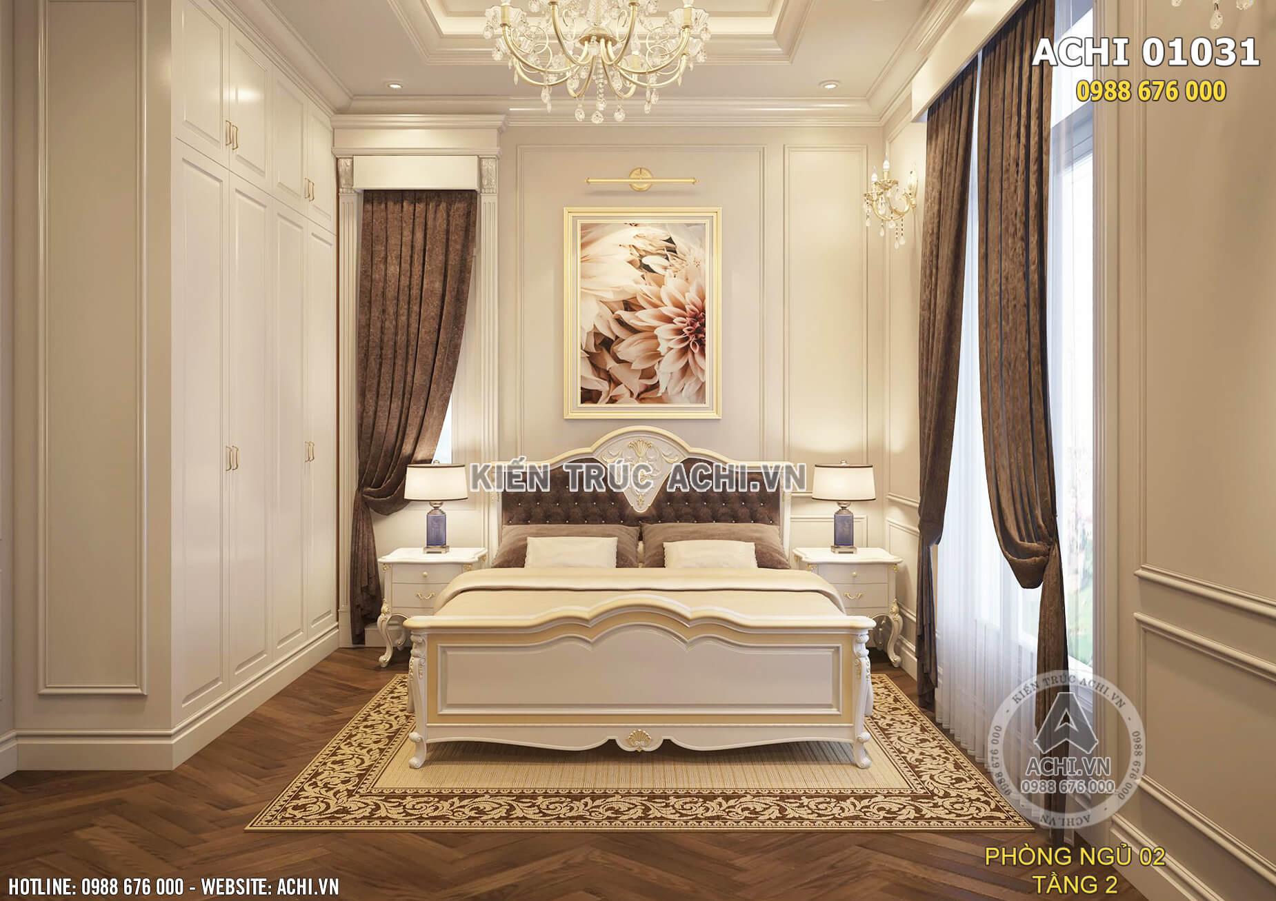 Nội thất phòng ngủ tân cổ điển sang trọng và ấn tượng