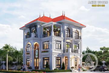 Mẫu thiết kế biệt thự 3 tầng đẹp tân cổ điển đẹp – ACHI 33020