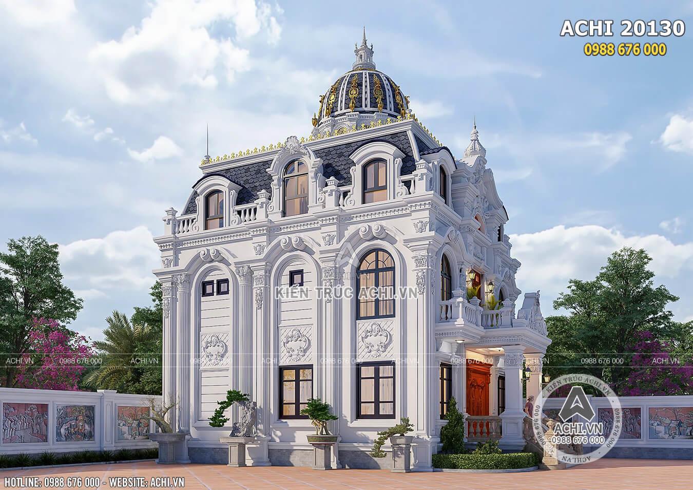 Mẫu thiết kế biệt thự tân cổ điển đẹp 110m2 xây dựng 3 tỷ tại Thanh Hóa - Mã số: ACHI: 20130