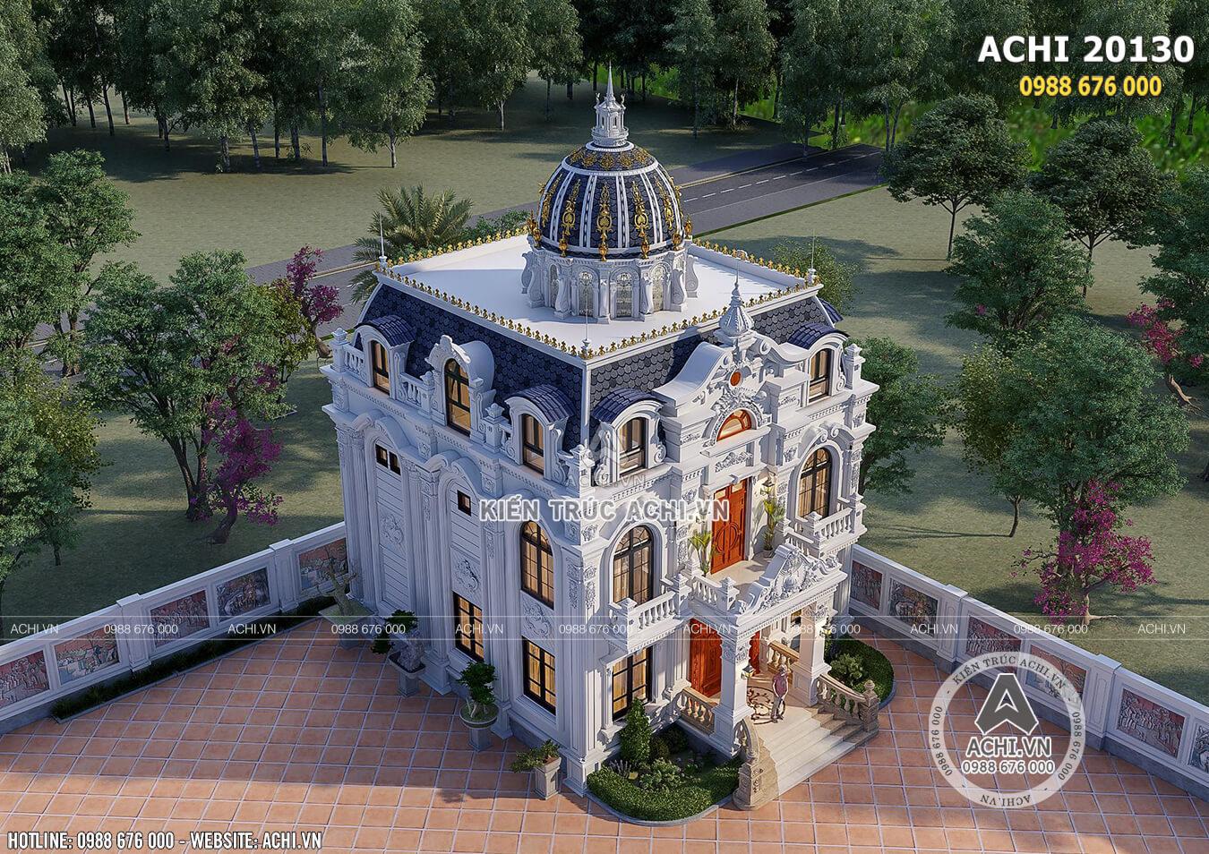 Không gian mẫu thiết kế biệt thự 3 tầng kiến trúc Pháp đẹp hoa lệ