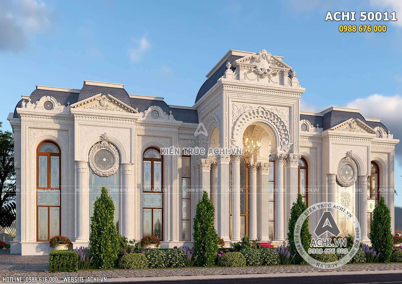 Mẫu thiết kế dinh thự 2 tầng đẹp đẳng cấp ở Dubai - ACHI 50011