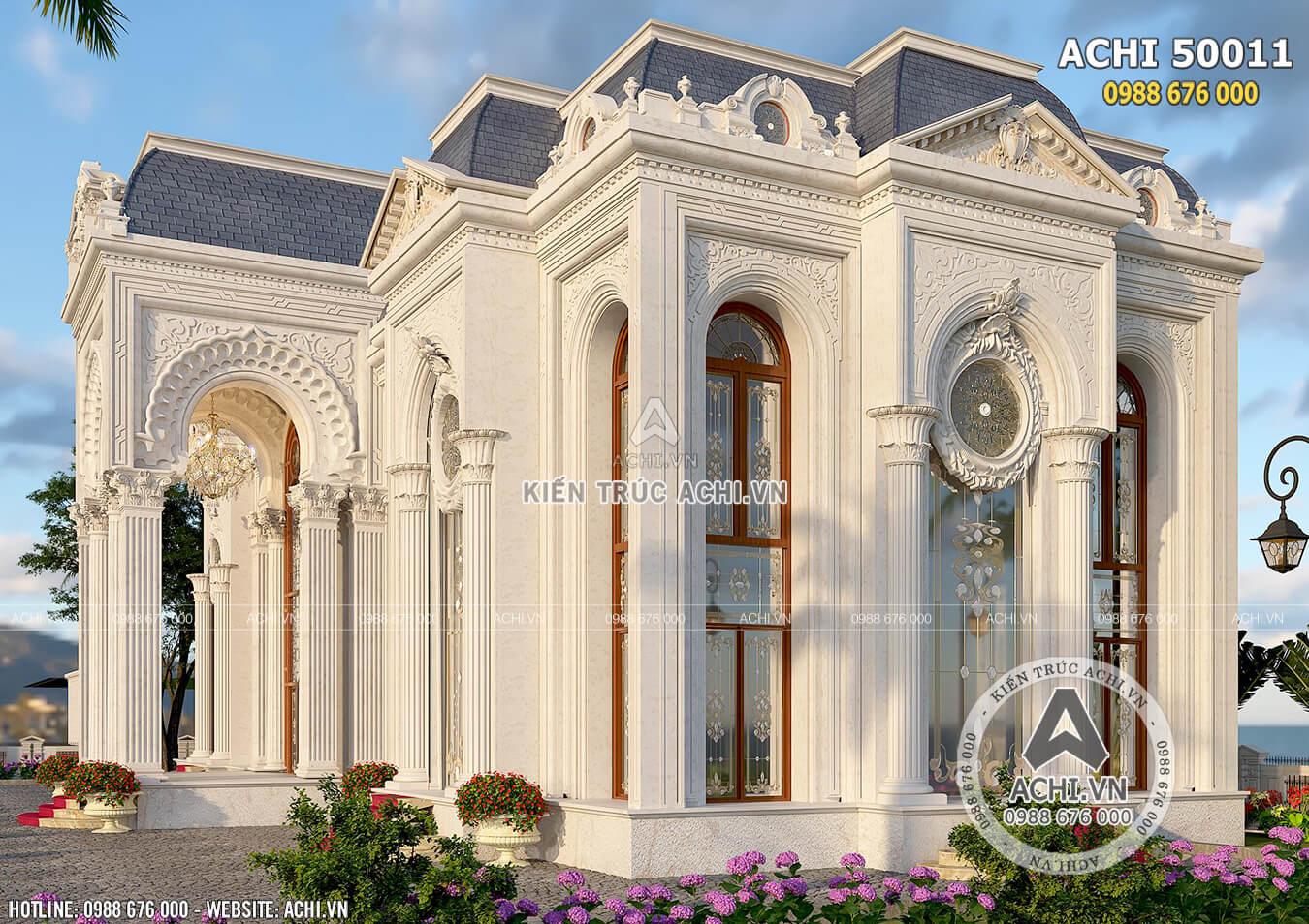 Mẫu dinh thự 2 tầng tân cổ điển nhẹ nhàng cuốn hút mọi ánh nhìn