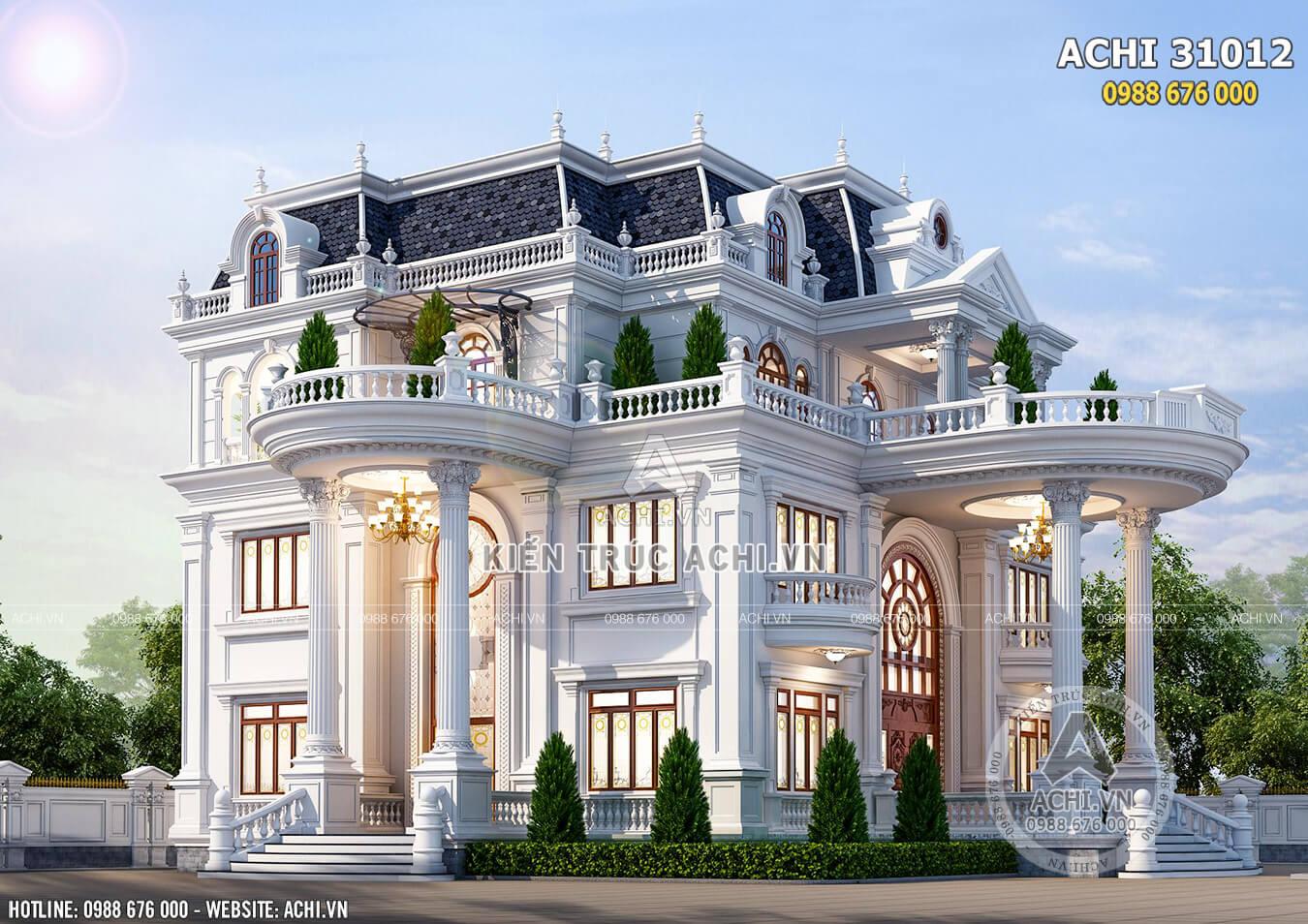 Hệ thống sảnh chính và sảnh phụ tòa dinh thự được đầu tư thiết kế chi tiết