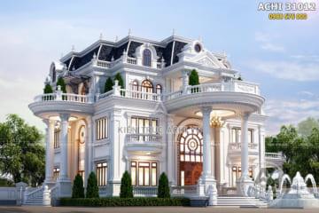 Thiết kế dinh thự tân cổ điển đẹp 1 trệt 3 lầu tại Sài Gòn – ACHI 31012