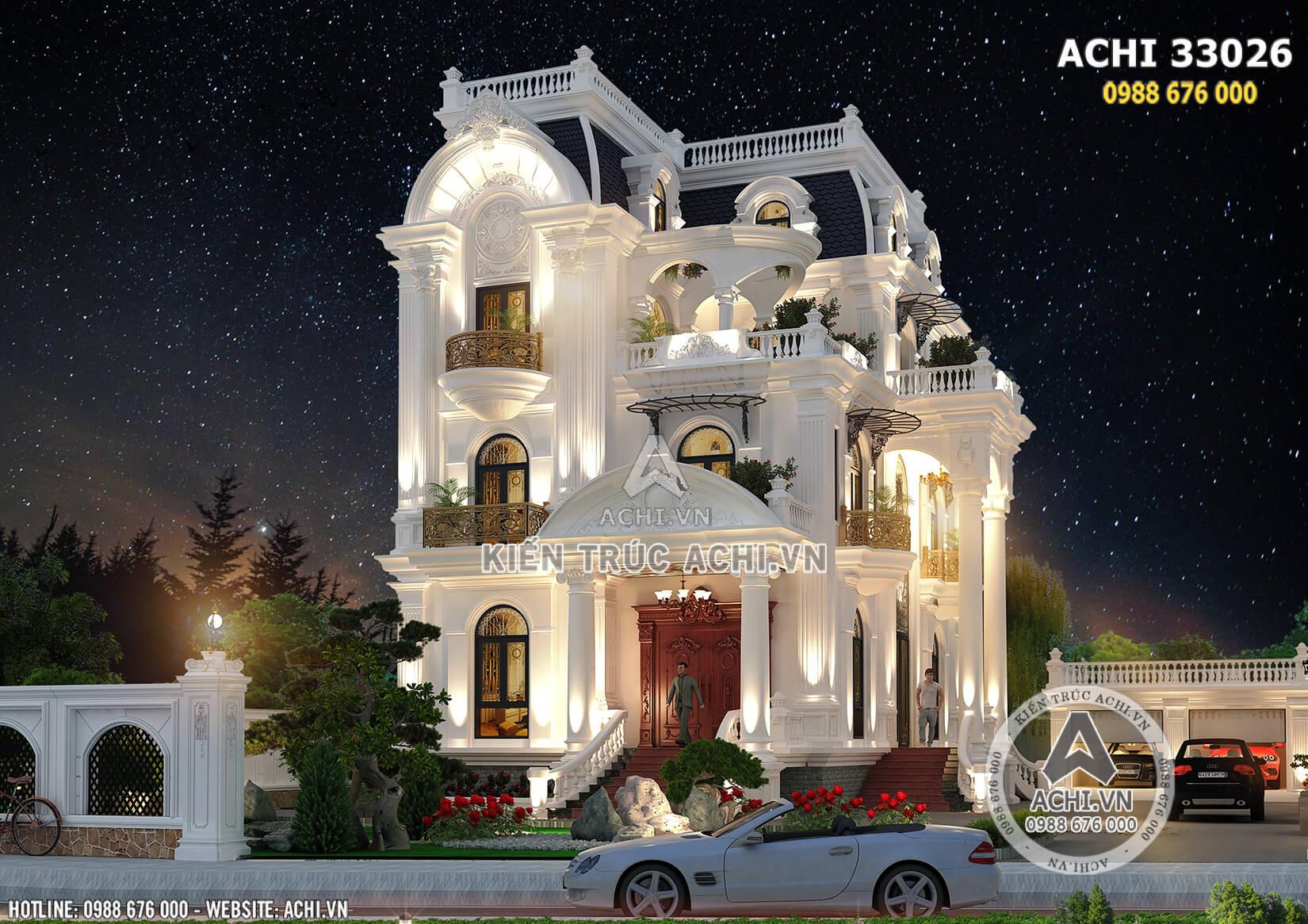 Mẫu nhà đẹp tân cổ điển mặt tiền 9m 4 tầng
