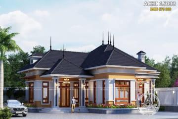 Thiết kế nhà cấp 4 mái Thái đơn giản – Mã số: ACHI 15033