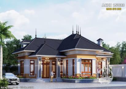 Không gian ngoại thất mẫu biệt thự mái Thái đơn giản, hiện đại và độc đáo