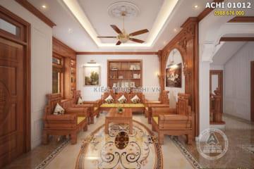 Thiết kế nội thất biệt thự bằng gỗ sang trọng – ACHI 01012