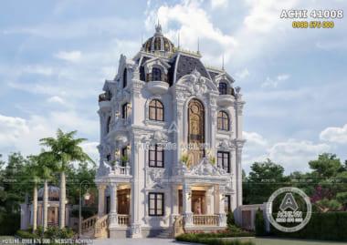 Mẫu biệt thự tân cổ điển 4 tầng 100m2 đẹp tại Quảng Ninh – ACHI 41008