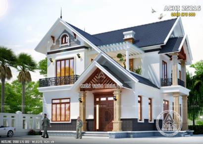 Mẫu nhà 2 tầng mái thái đẹp tại Sông Lô, Phú Thọ - ACHI 25216