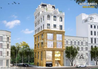 Mẫu nhà mặt phố kết hợp kinh doanh khách sạn mặt tiền 8m – ACHI 68003
