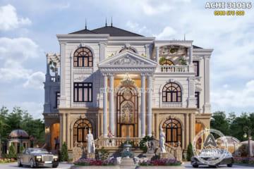 Mẫu thiết kế nhà 3 tầng đẹp tân cổ điển tại Quảng Trị – ACHI 31016