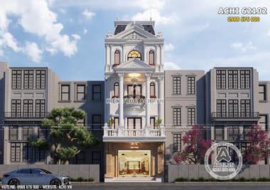 Mẫu thiết kế nhà lô phố tân cổ điển 4 tầng 1 tum sang trọng – ACHI 62102
