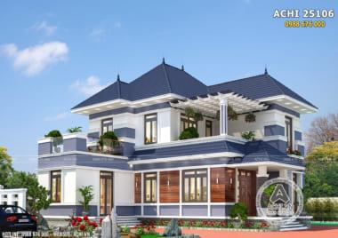 Mẫu thiết kế nhà mái nhật 2 tầng đẹp 150m2 – ACHI 25106
