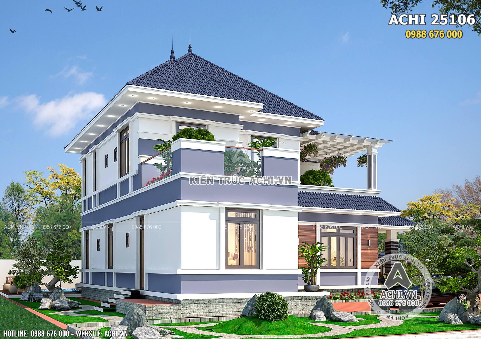 Môt góc view của mẫu thiết kế nhà mái nhật độc đáo và ấn tượng