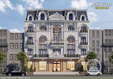Mẫu thiết kế nhà phố để ở kết hợp kinh doanh mặt tiền 20m – ACHI 65125