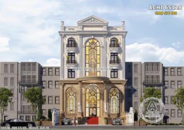Mẫu thiết kế tòa nhà cao tầng để ở và kinh doanh mặt tiền 12m – ACHI 65128