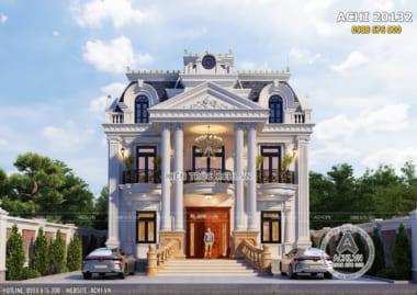 Thiết kế biệt thự tân cổ điển 2 tầng 1 tum đẹp tại Sóc Trăng – Mã số: ACHI 20132