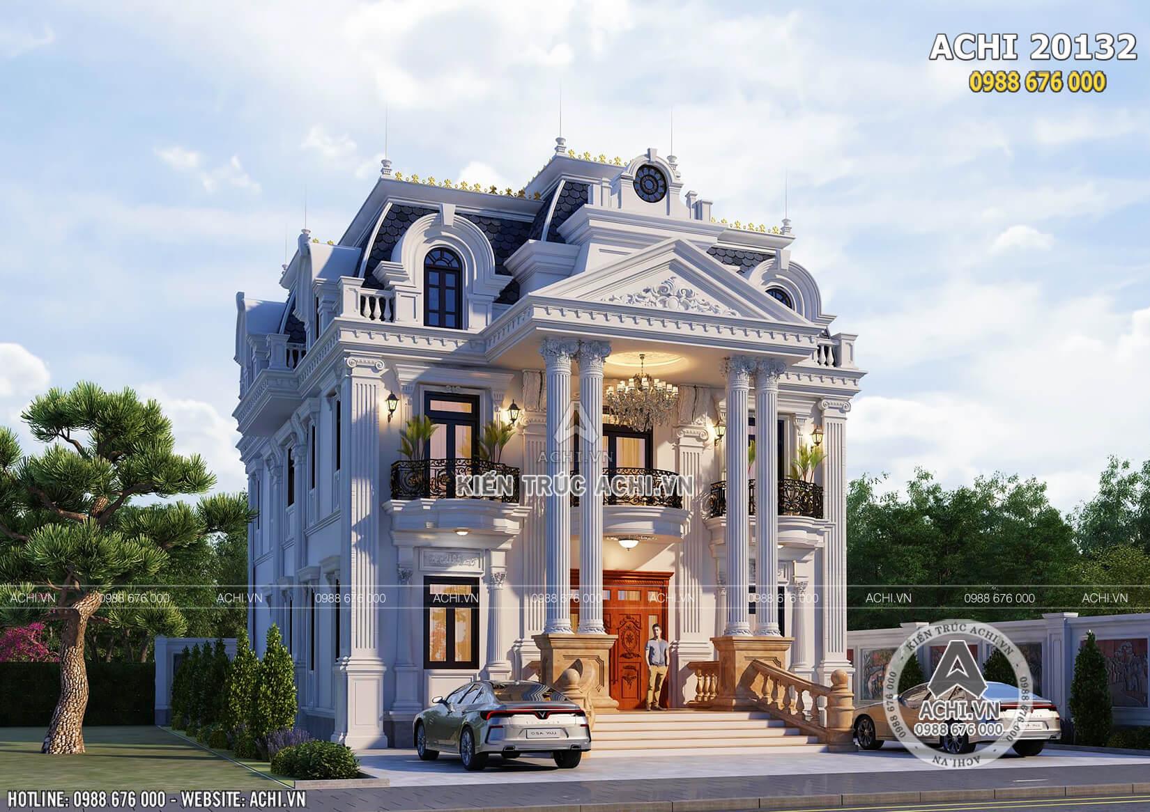 Một góc view mẫu thiết kế biệt thự tân cổ điển tại Sóc Trăng