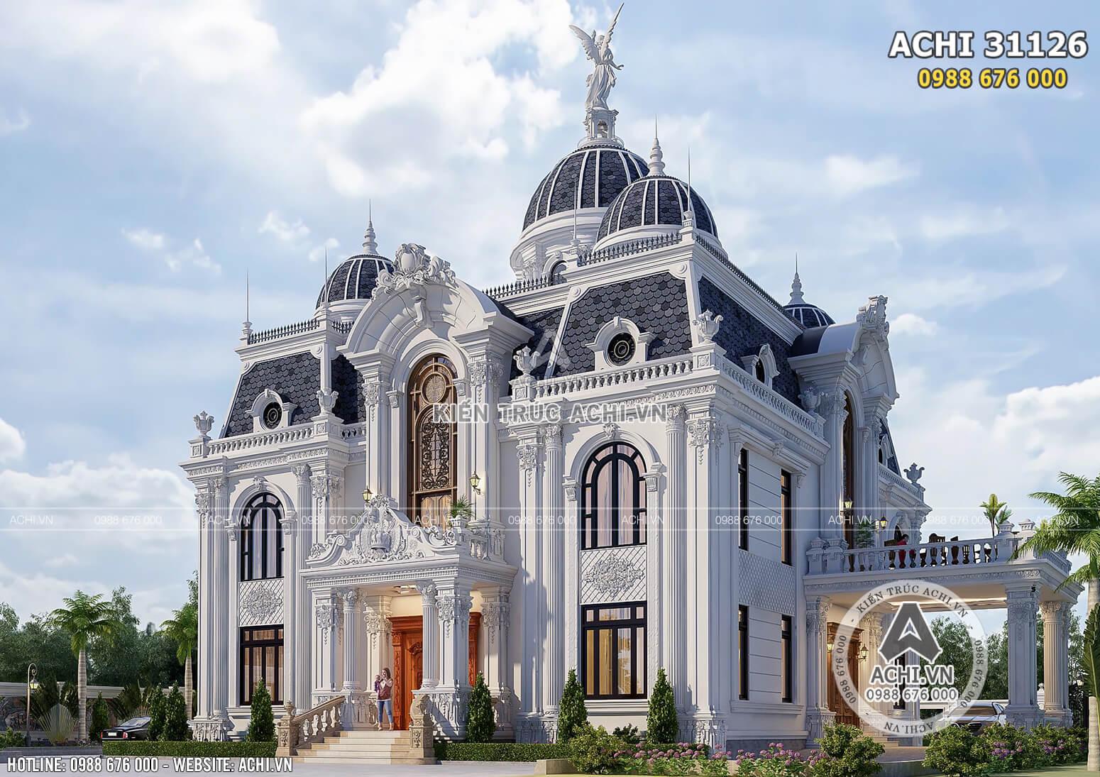 Một góc view của mẫu dinh thự tân cổ điển