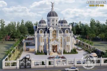 Thiết kế dinh thự lâu đài đẹp 400m2 tại Cần Thơ – ACHI 31126