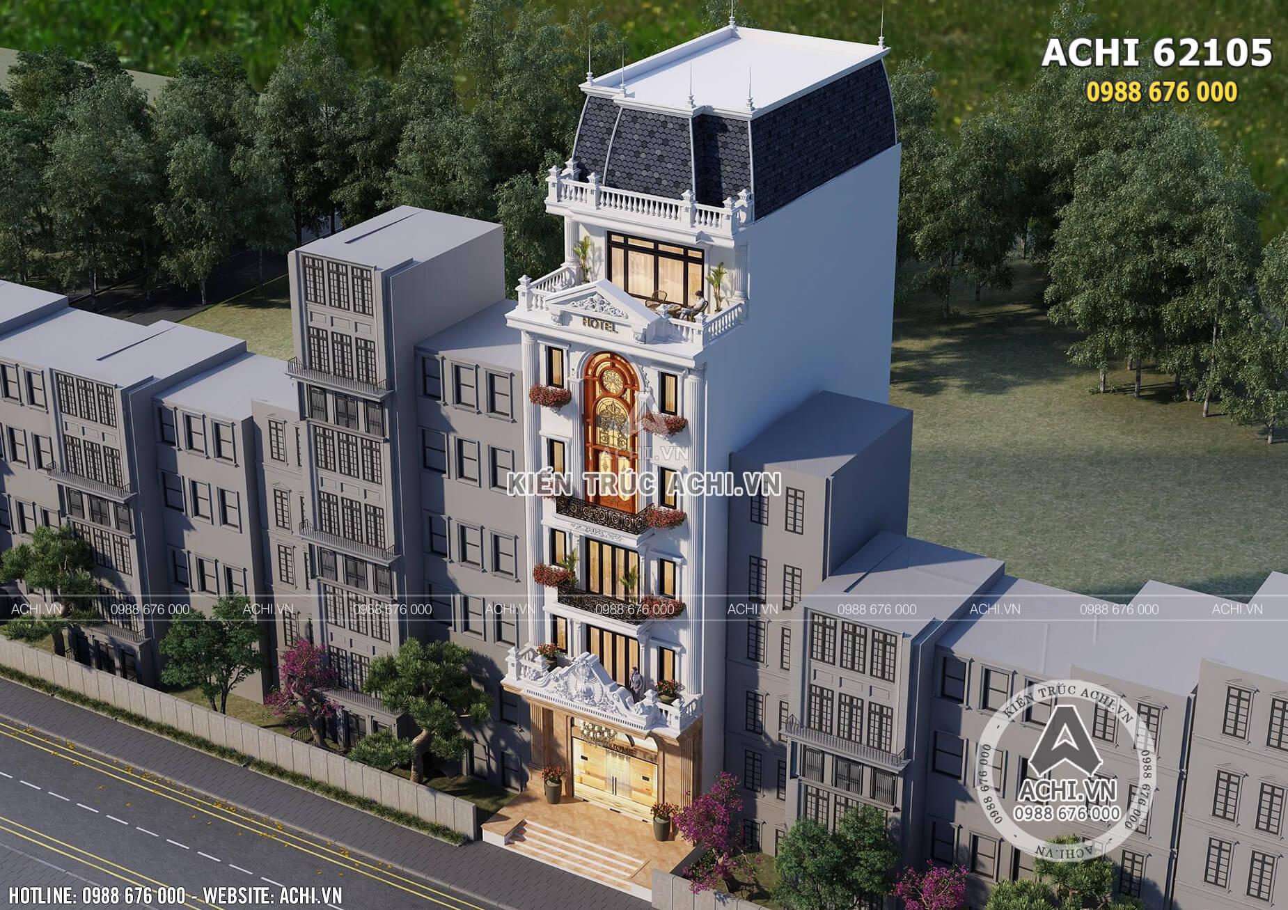 Mẫu thiết kế nhà lô phố kiến trúc tân cổ điển nhìn từ trên cao