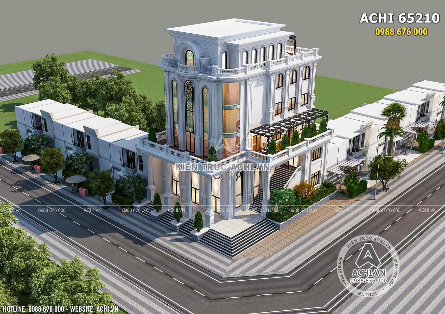 Mẫu thiết kế nhà hàng trung tâm tiệc cưới nhìn từ trên cao