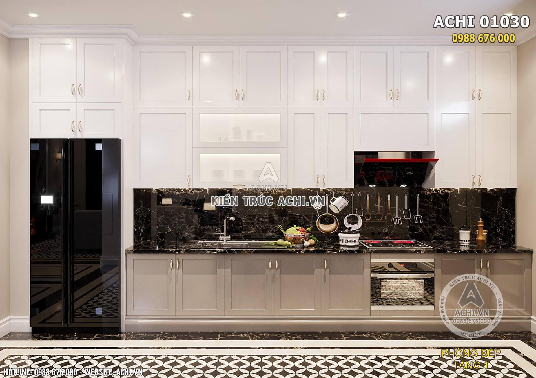 Nơi giữ lửa trong ngôi nhà được bài trí ngăn nắp, gọn gàng, sạch sẽ và tiện nghi