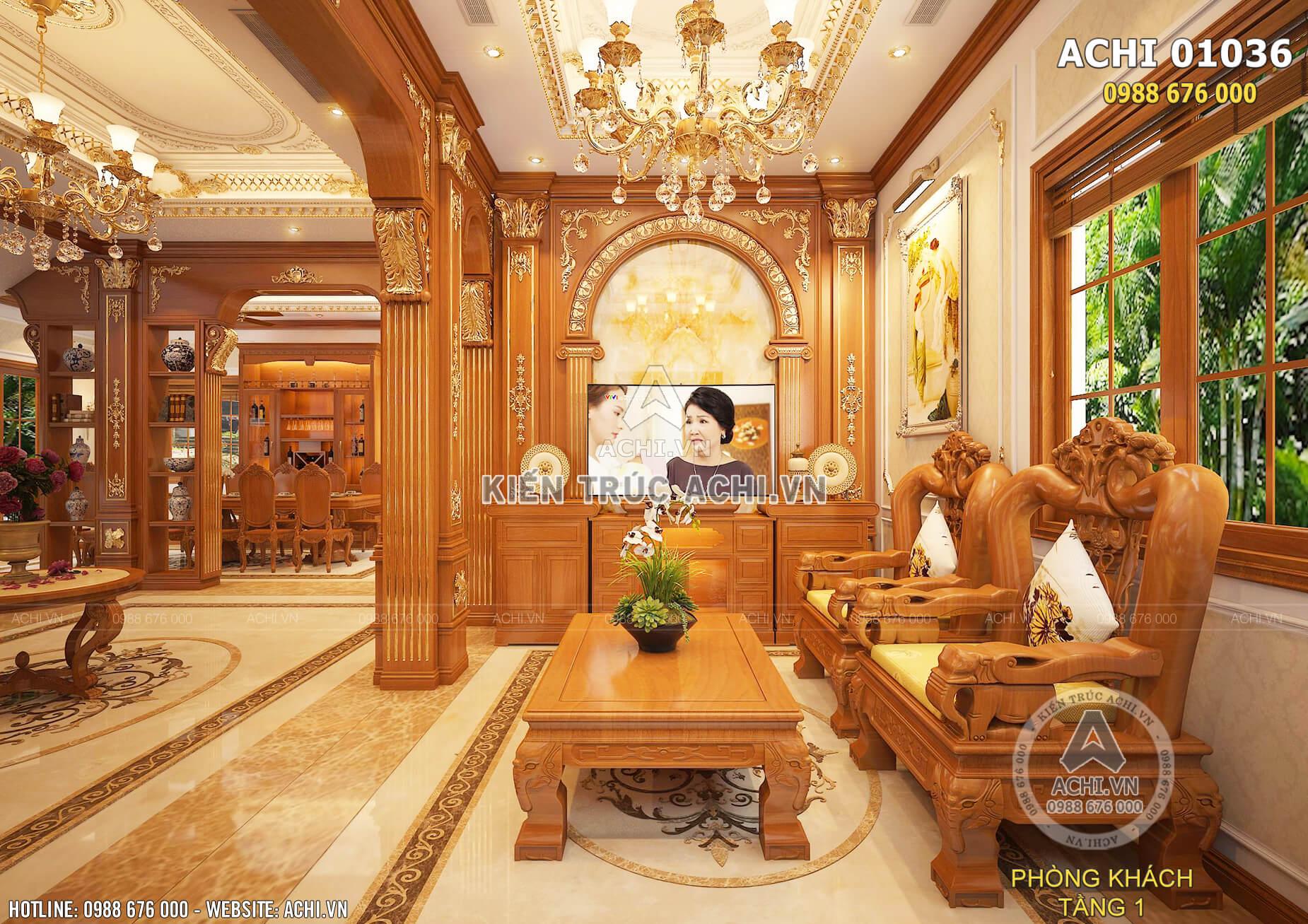 Thiết kế nội thất tân cổ điển đẹp sang trọng đẳng cấp – ACHI 01036