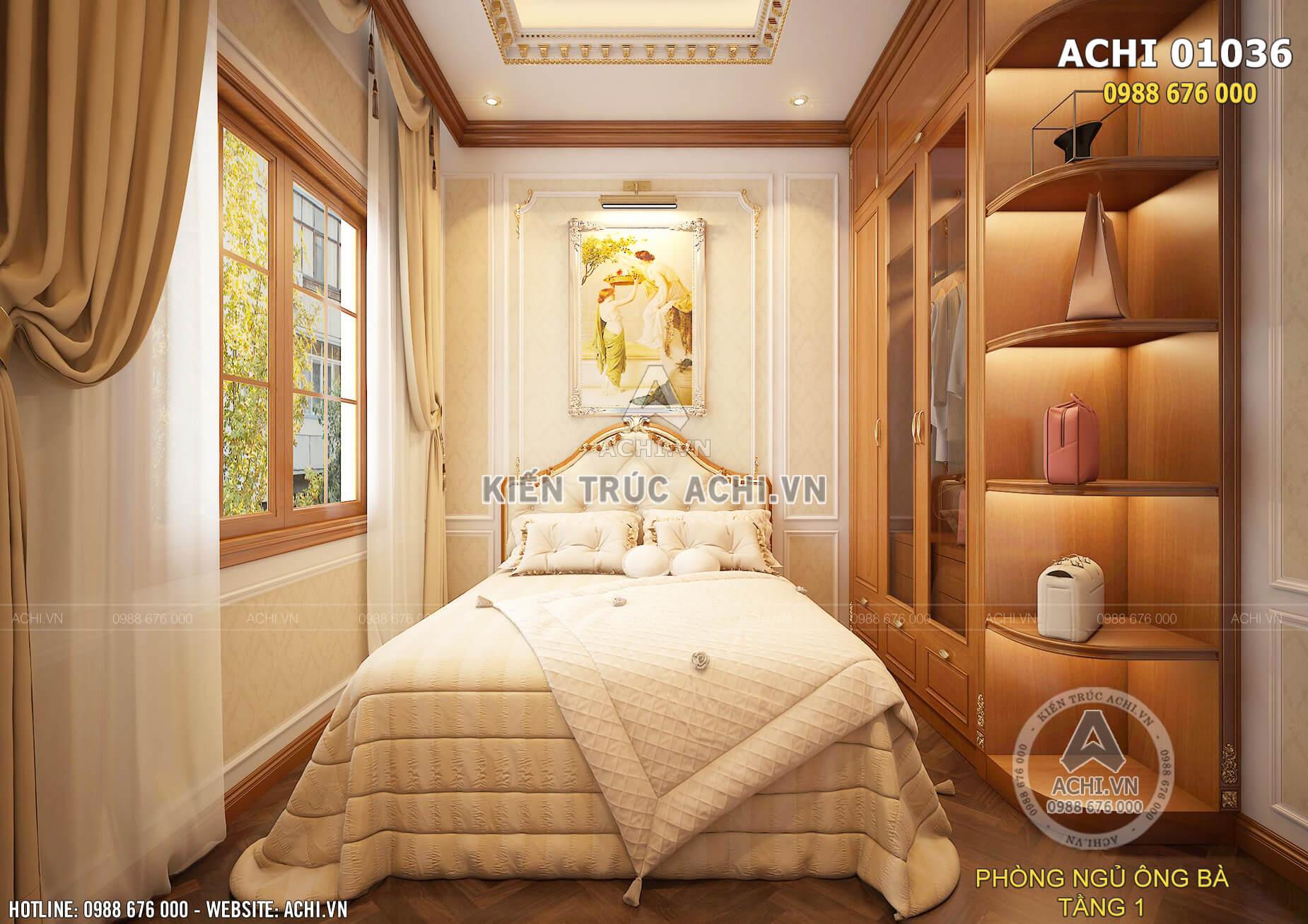 Nội thất phòng ngủ tân cổ điển trang nhã và ấm áp