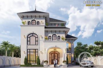 Biệt thự 3 tầng mái Thái kiến trúc Địa Trung Hải đẹp – ACHI 33022
