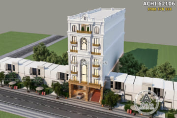 Mẫu nhà phố tân cổ điển mặt tiền 10m kết hợp kinh doanh – ACHI 62106