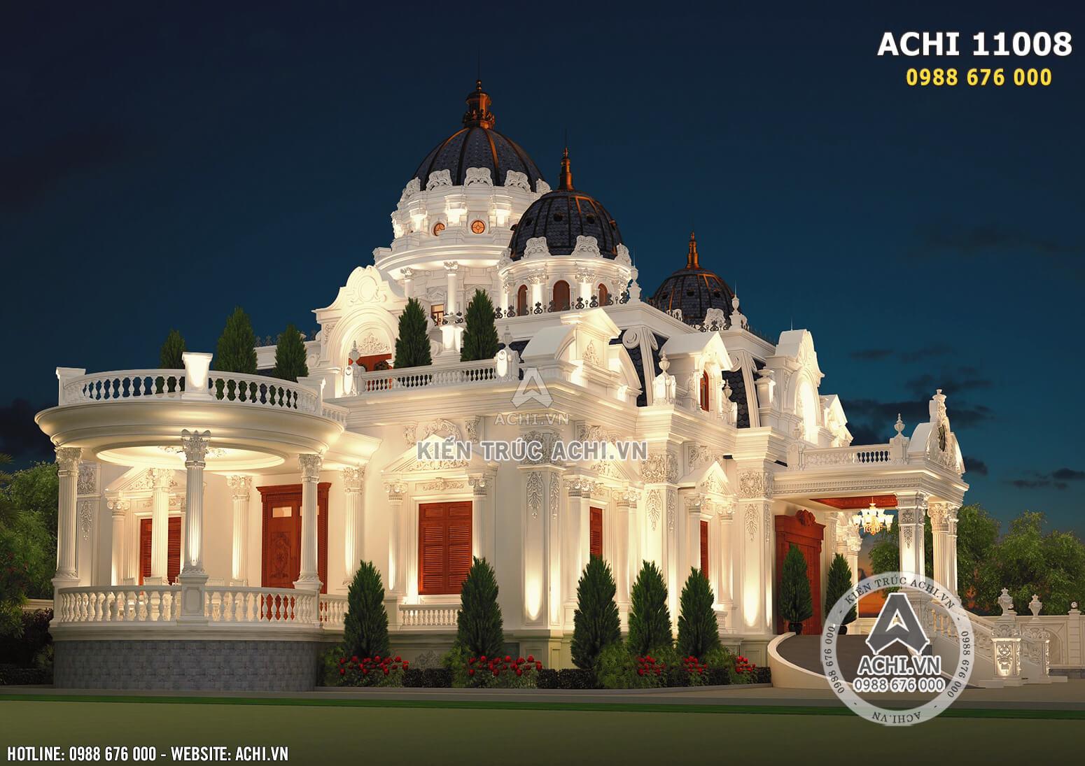 Một góc view đẹp mẫu thiết kế dinh thự lâu đài đẹp 300m2