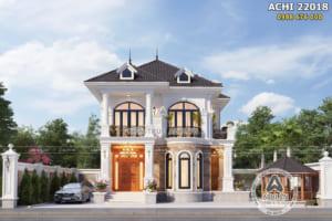 Mẫu nhà 2 tầng đẹp 100m2 3 phòng ngủ – ACHI 22018