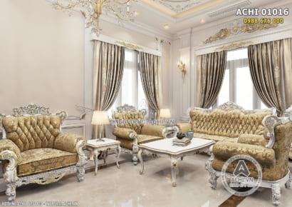 Hình ảnh: Thiết kế nội thất tân cổ điển cho không gian phòng khách - ACHI 01016