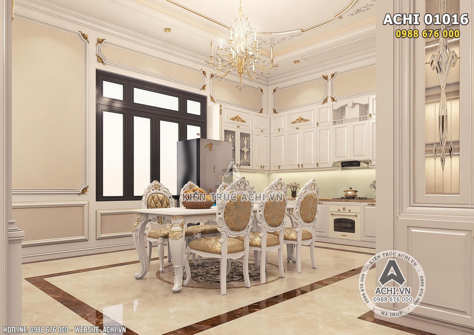 Hình ảnh: Không gian phòng bếp trang bị các món đồ nội thất cao cấp - ACHI 01016