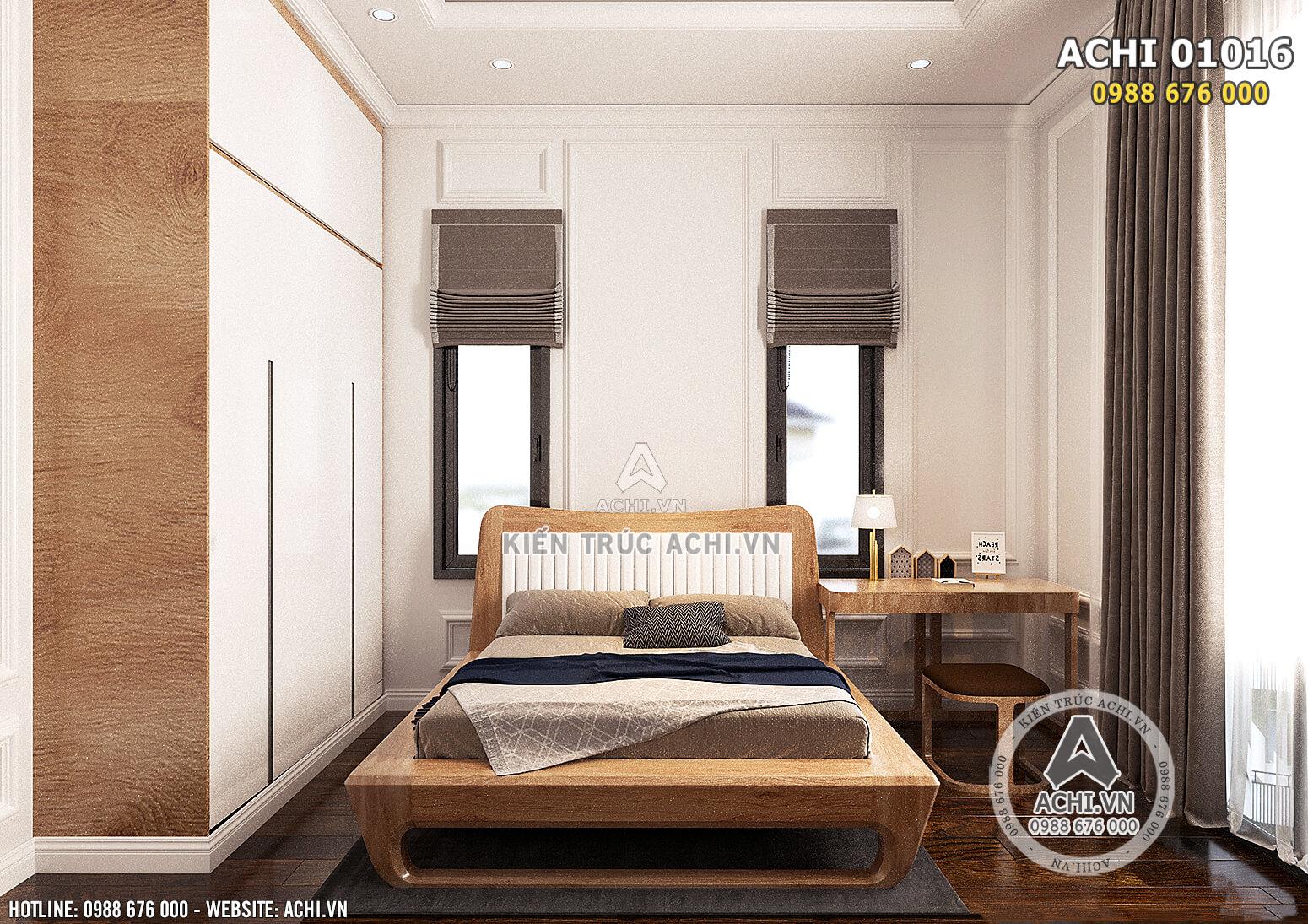 Hình ảnh: Thiết kế nội thất bằng gỗ cho không gian phòng ngủ cho cậu con trai - ACHI 01016