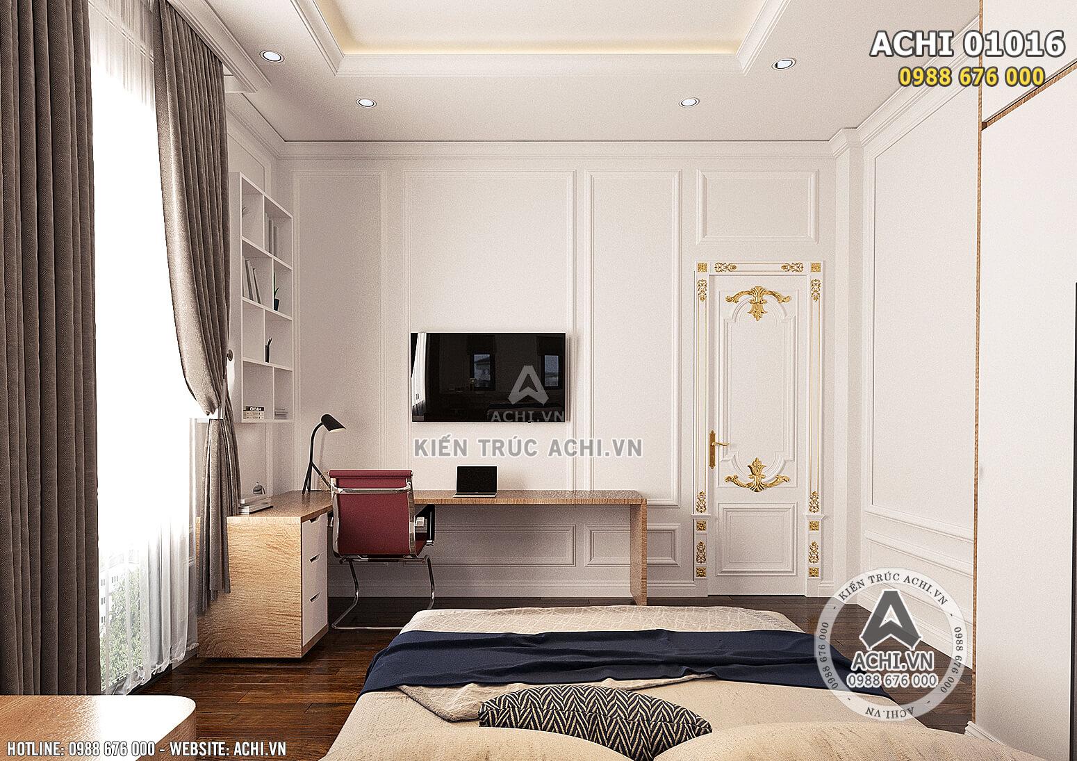 Hình ảnh: Không gian phòng ngủ cho cậu con trai mang phong cách hiện đại - ACHI 01016