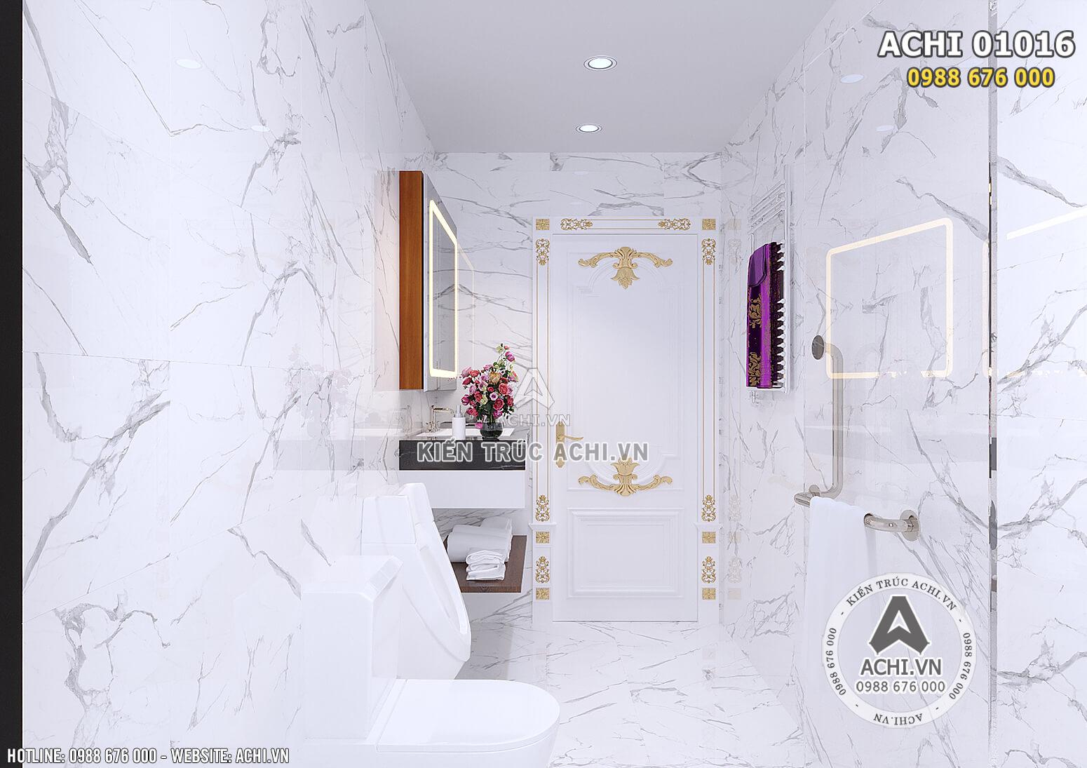 Hình ảnh: Thiết kế nội thất tân cổ điển cho không gian phòng vệ sinh - ACHI 01016