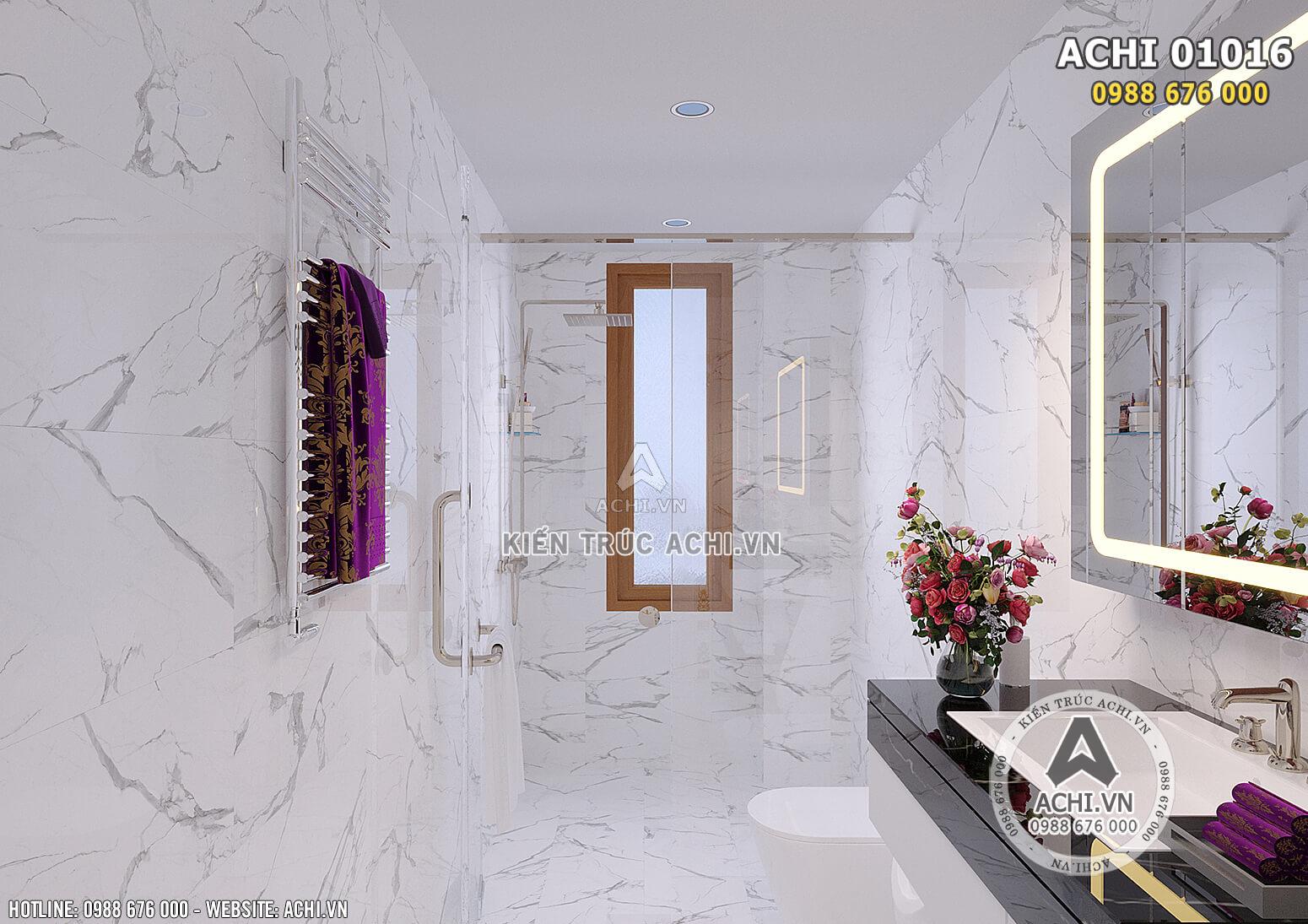 Hình ảnh: Không gian phòng vệ sinh được tích hợp các đồ nội thất Châu Âu - ACHI 01016