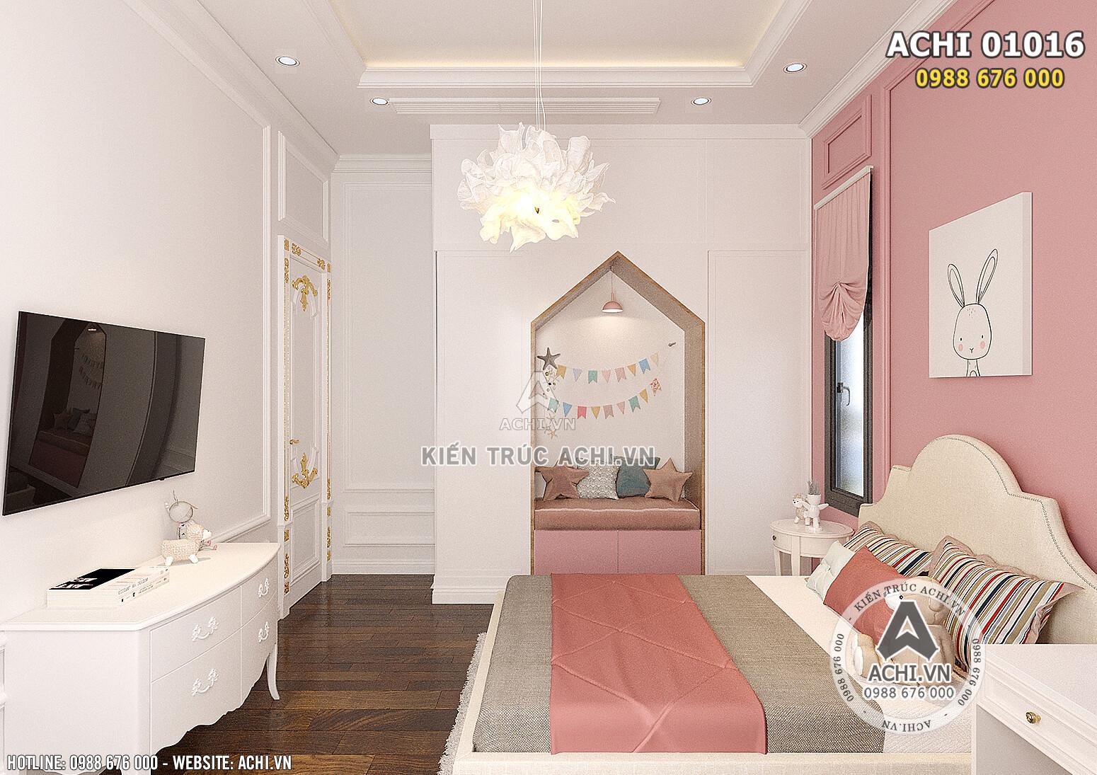 Hình ảnh: Thiết kế nội thất tân cổ điển cho không gian phòng ngủ cho cô con gái - ACHI 01016