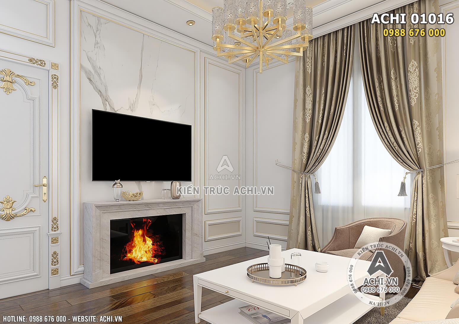 Hình ảnh: Phòng sinh hoạt chung được thiết kế vô cùng ấm cùng - ACHI 01016