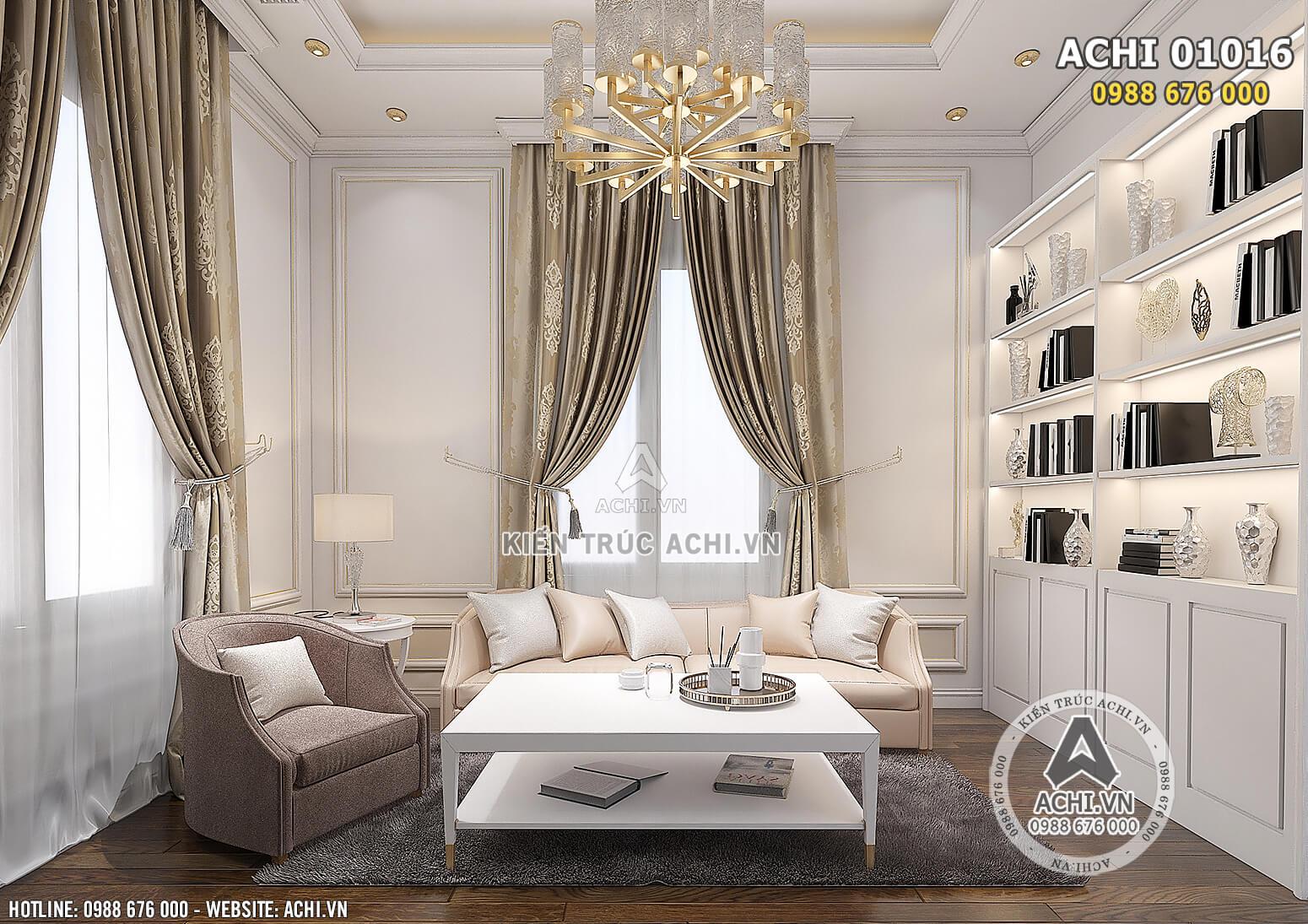 Hình ảnh: Thiết kế nội thất tân cổ điển cho không gian phòng ngủ cho phòng sinh hoạt chung - ACHI 01016