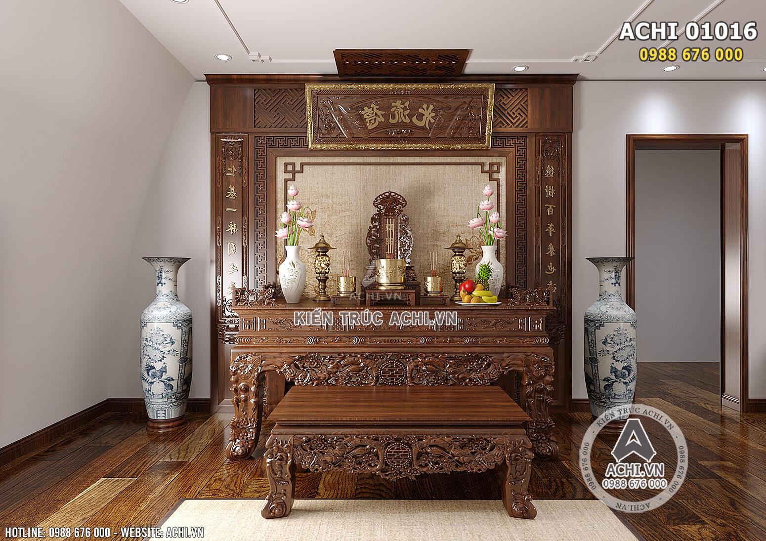 Hình ảnh: Thiết kế nội thất tân cổ điển cho không gian phòng ngủ cho phòng thờ - ACHI 01016