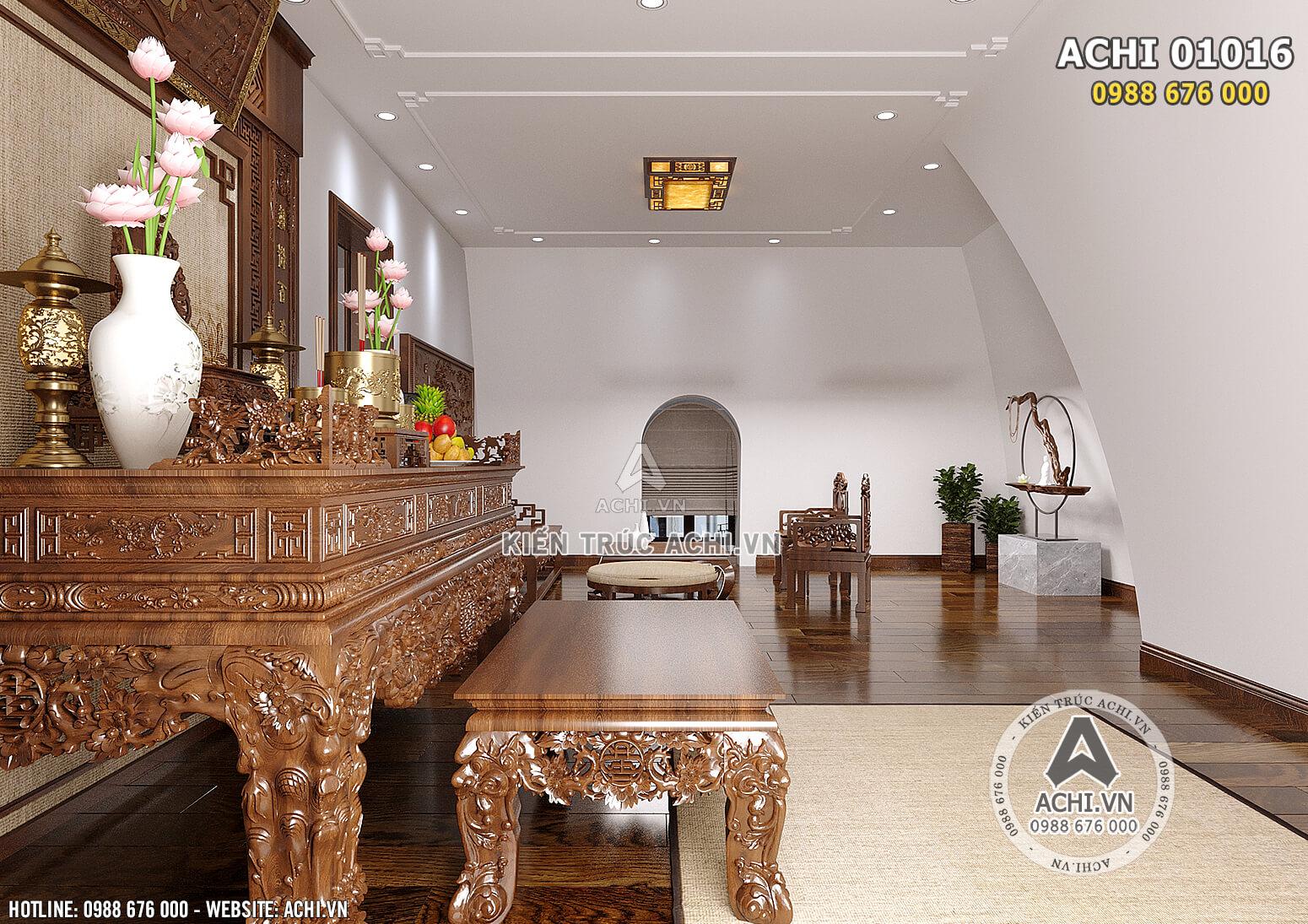 Hình ảnh: Không gian phòng thờ được thiết kế trang nghiêm - ACHI 01016