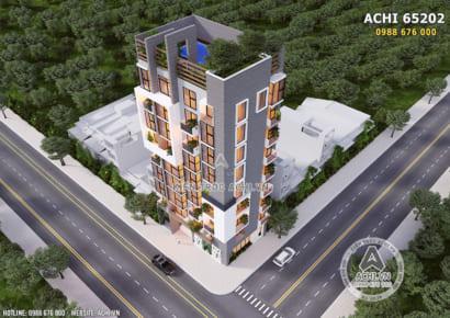 Toàn cảnh mẫu thiết kế chung cư mini khi nhìn từ trên cao xuống