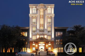 Dự án thiết kế khách sạn mini mặt tiền 10m đẹp lung linh – ACHI 65323