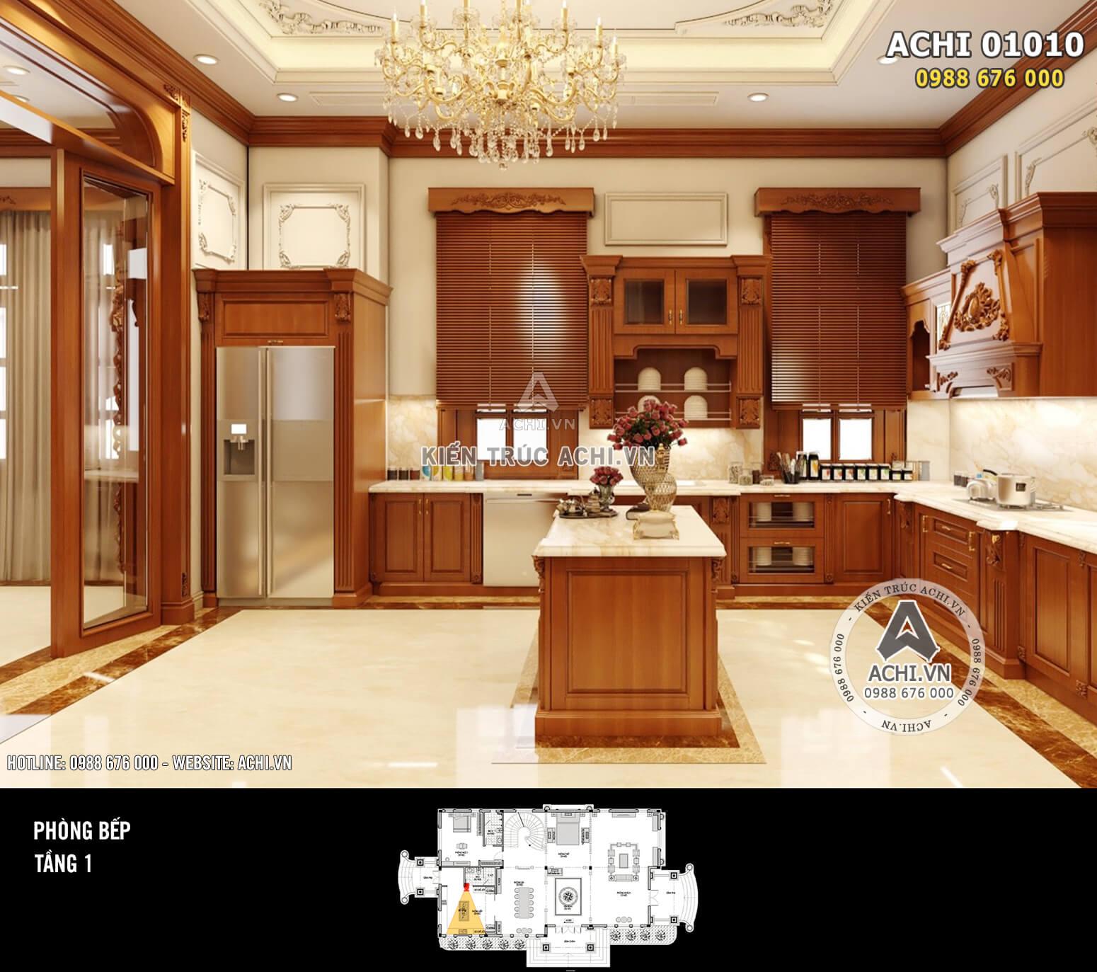 Hình ảnh: Thiết kế nội thất tân cổ điển - Phòng bếp - 01